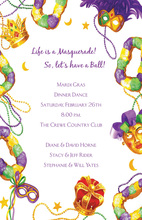 Masquerade King And Queen Masks Invitation
