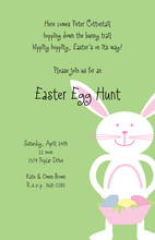 Bunny Basket Invitation
