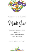 Beads Masks Masquerade Invitations