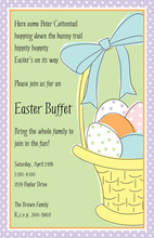 Easter Basket Invitations
