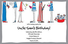 Festive Patriotic Feet Party Invitations