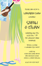 Hawaiian Luau Couple Invitations