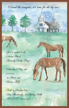 Watercolor Horse Farm Invitations