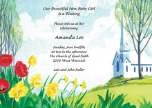 Traditional Country Church Invitation