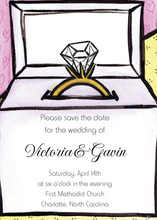 Wedding Ring In The Box Invitation