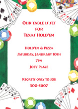 Inspired Poker Table Invitations