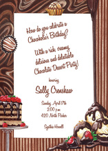 Treats And Sweets Chocolate Fantasy Invitation