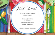Colorful Mexican Place Setting Invitation