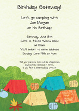 Summer Camp Out Invitation