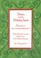 Festive Holiday Starshine Border Invitations