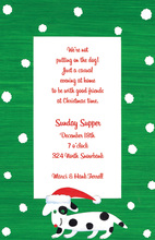 Christmas Puppy Spotty Invitation