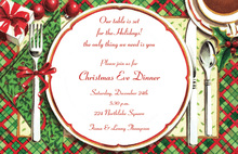 Decorated Christmas Place Setting Invitation