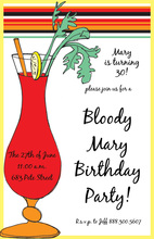 Bloody Mary Madness Invitation