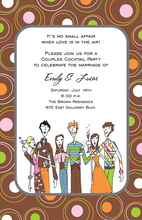 Cocktail People Polka Dots Invitation