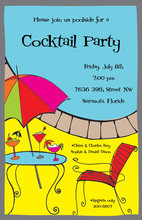 Poolside Cocktail Invitations