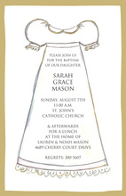 Traditional Girl Baptism Gown Invitation