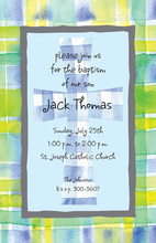 Watercolor Plaid Invitation