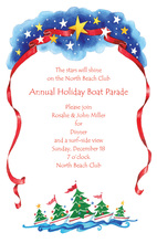Christmas Trees In The Boats Invitation