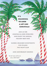 Candy Stripe Palm Trees Invitation