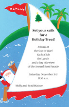 Christmas Santa Sailing Invitations