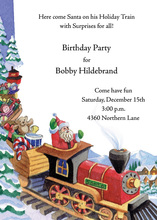 Village Santa Train Invitation