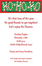Ho Ho Ho Christmas Candies Invitation