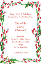 Holly Candy Land Border Invitation