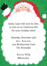 Happy Santa Long Beard Invitations