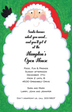 Happy Santa Twinkles Invitation