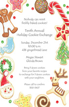 Holiday Cookies Border Invitations