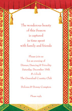Formal Curtain Holiday Panels Invitation