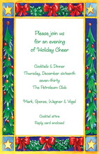 Decorated Holiday Mantel Invitation
