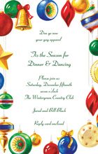 Beautiful Glass Ornaments Invitation