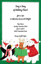 Christmas Carolers Party Invitation