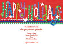 Fun Happy Holidays Text Invitation