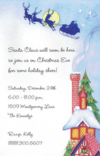 Santa Over The Top Invitations