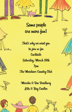 Some Fun People Yellow Style Invitation