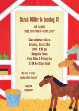 Inspired Pony Stall Invitations