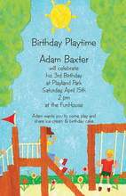 Kids Playground Adventures Invitation