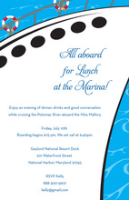 All Aboard Sea Worthy Yacht Invitations