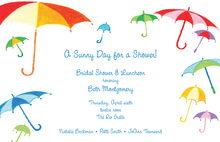 Spring Multicolor Umbrella Showers Invitation