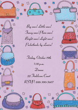 Purse Strings Border Invitation