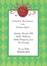 Argyle Border Red Ornaments Invitation