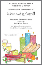 Festive Buffet Invitation