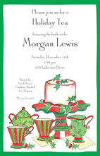 Jolly Holiday Tea Invitations