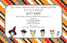 Costume Heads Invitation