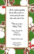 Dancing Snowmen Invitation