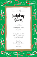 Candy Canes Festive Invitation