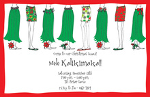 Hula Feet HolidayTropical Invitation