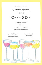 Row of Drinks Invitations